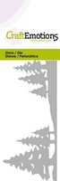 CraftEmotions Die - landskap tallar - Card 5x10cm