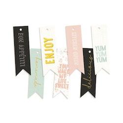 Piatek13 - Decorative tags Around the table 02