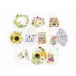 Piatek13 - Decorative tags The Four Seasons - Summer 01