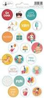 Piatek13 - Sticker sheet Happy Birthday 03