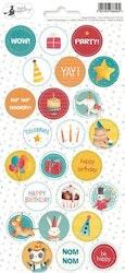 Piatek13 - Sticker sheet Party Happy Birthday 02