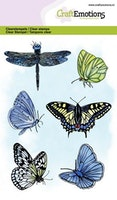 CraftEmotions clearstamps A6 - butterflies