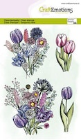 CraftEmotions clearstamps A6 - Tulip bouquet