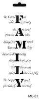 Cadence Mask Stencil - text family 03