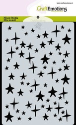 CraftEmotions Mask stencil stars sky A6