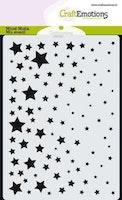 CraftEmotions Mask stencil star sky A6