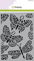 CraftEmotions Mask stencil - butterfly large A5