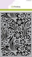CraftEmotions Mask stencil - background flower swirl leaf A5