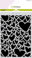 CraftEmotions Mask stencil Love Puns - hearts A5