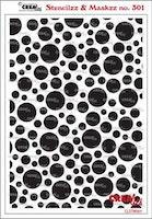 Crealies Stencilzz/Maskzz Circles 15 x 21 cm