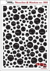 Crealies Stencilzz/Maskzz Circles rough edges 15 x 21 cm