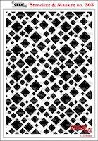 Crealies Stencilzz/Maskzz Squares 15 x 21 cm