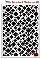 Crealies Stencilzz/Maskzz Squares rough edges 15 x 21 cm
