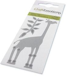 CraftEmotions Die - giraffe Card 5x10cm