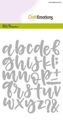 CraftEmotions Die - alphabet handlettering lowercase ...