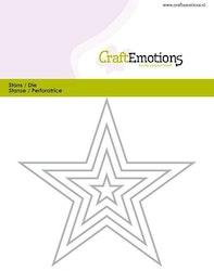 CraftEmotions Die - edges 5 pointed star Card 11x9cm - ...