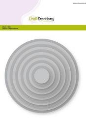 CraftEmotions Big Nesting Die - circles Card 150x160 - ...