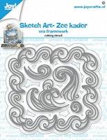 Joy! Crafts Cuttingdie - Sketch Art- Sea framework