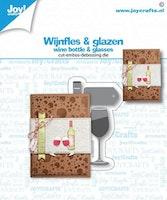Joy! Crafts Cut-embossdie - Wine Bottle & glasses