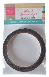 Marianne D Black foam tape - 1 mm (12 mmx2mtr)