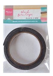 Marianne D Black foam tape - 2 mm (12mmx2mtr)