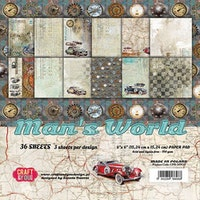 Craft&You Man's World Small Paper Pad 6x6 36 sheets
