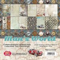 Craft&You Man's World Big Paper Set 12x12 12 sheets
