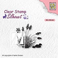"""NS CLEARSTAMP """"Blooming Grass-4"""""""