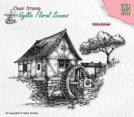 """NS Clearstamp """"Water Mill"""""""