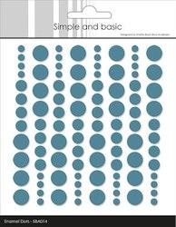 "Simple and Basic Enamel Dots ""Aqua (96 pcs)"""