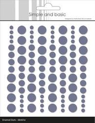 "Simple and Basic Enamel Dots ""Eggplant (96 pcs)"""