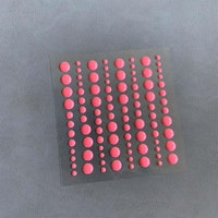 "Simple and Basic Enamel Dots ""Fresh Peach (96 pcs)"""