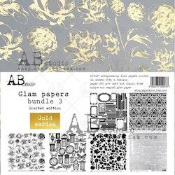 A.B Studio Glam Paper 12x12 - Guld & vitt
