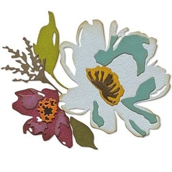 "SIZZIX/TIM HOLTZ THINLITS DIE ""Brushstroke Flowers #3"""