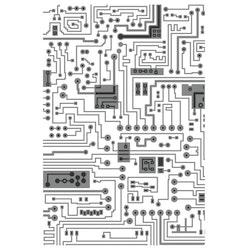 "SIZZIX/TIM HOLTZ MULTI-LEVEL EMBOSSINGFOLDER A6 ""Circuit"""