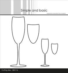 """Simple and Basic die """"Champagne Glasses"""""""