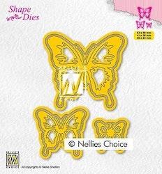 """NS SHAPE DIES """"3 Butterflies"""""""