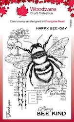 """Woodware Clearstamp """"Bee Kind"""""""