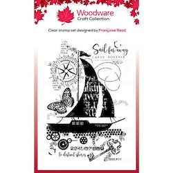 """Woodware Clearstamp """"Sail Away"""""""