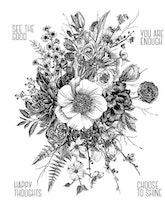 "Tim Holtz Cling Stamp ""Glorious Garden"""