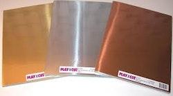 5 ark Metall papper - A4 - Guld