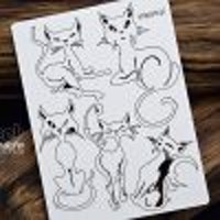 Chipboard Cats – Set