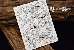 Chipboard - Queen Rose – Rose Leaves – twigs