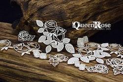 Chipboard - Queen Rose – Openwork Roses