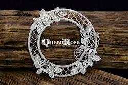 Chipboard - Queen Rose – Layered Frame – circle