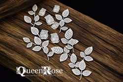 Chipboard - Queen Rose – Rose Buds and Leaves