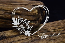 Chipboard - Magnolias- Magnolia Heart 2