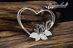 Chipboard - Magnolias- Magnolia Heart 1