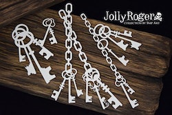 Chipboard - Jolly Roger – Keys and Chains
