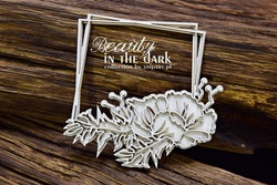 Chipboard - Beauty in the Dark – Square Frame with ...
